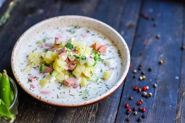 冷やし野菜青菜オクロシカ第2コース食べる