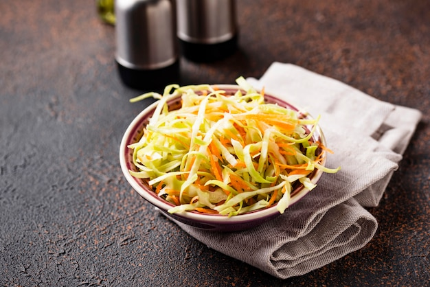 Coleslaw with cabbage, traditional american salad