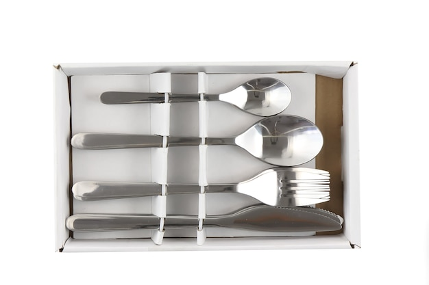 ガラス、皿、食器、調理器具、鍋のコラージュ。孤立