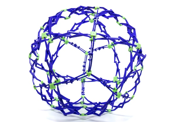 Collapsible purple and green color sphere
