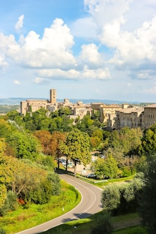 Colle di val d'elsa, italy beautiful architecture of colle di val d'elsa, small town in the province of siena, tuscany