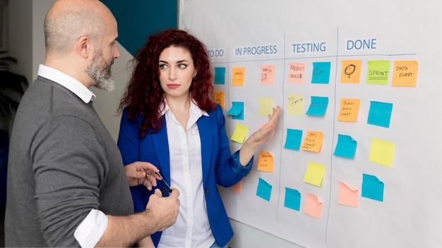 Colleghi di brainstorming insieme