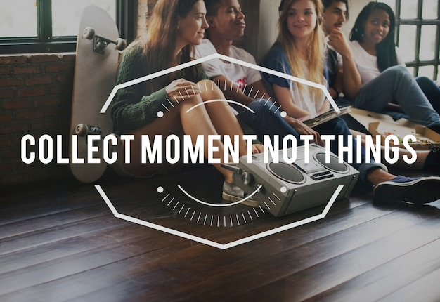 Collect moment vintage vector graphic concept