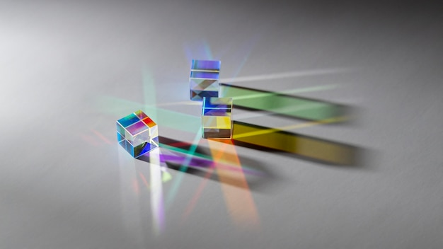 Collection of abstract prism and light