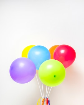 Collection of bright balloons