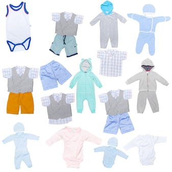 Collection of children's clothes
