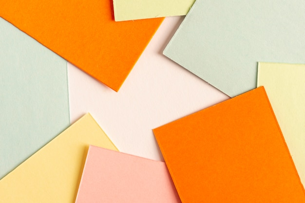 Collection of colorful cardboard sheets