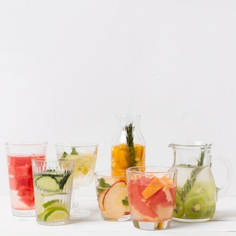 Collection of fresh drinks