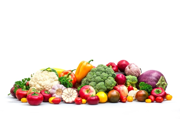 Collection of fresh vegetables isolated