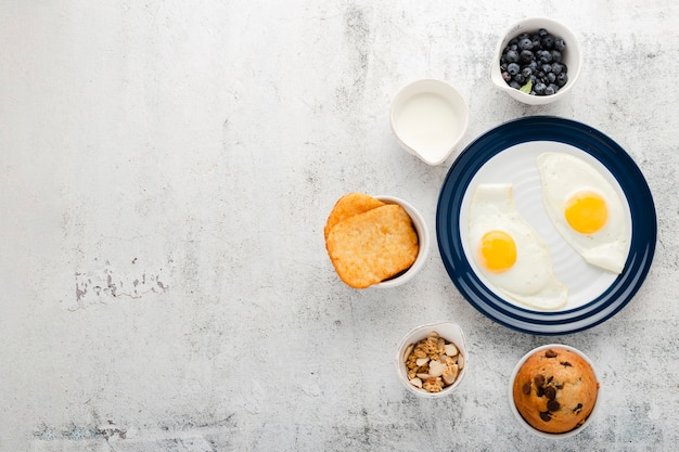 Collection of healthy start breakfast