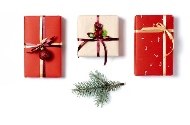 Коллекция рождественских подарков изолированные