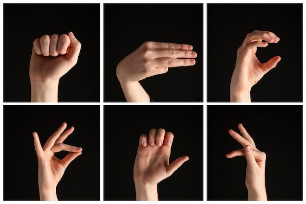 手話の手のジェスチャーのコレクション