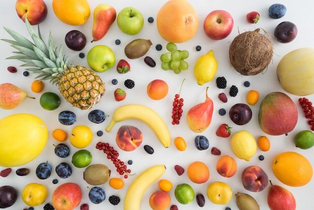 夏の果物のコレクション