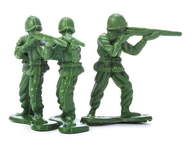 伝統的なおもちゃの兵隊のコレクション