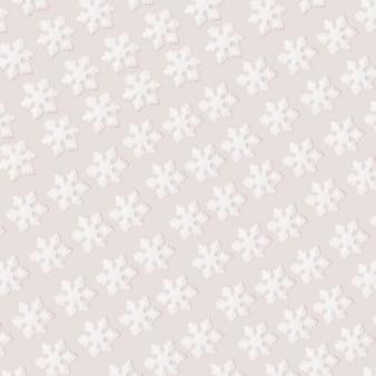 Коллекция белых декоративных снежинок