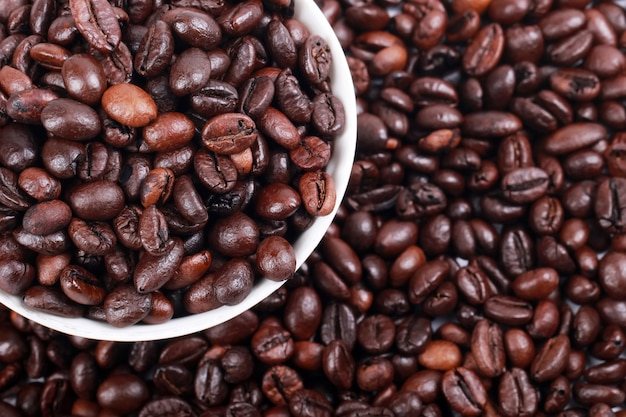A collection of roasted coffee beans