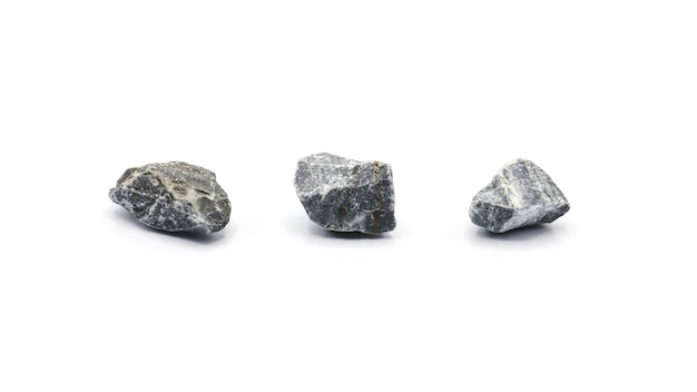 Collection of a small rock isolated on white background