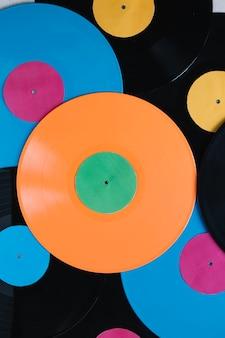 Raccolta di dischi in vinile