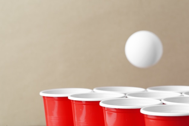 College party sport - beer pong