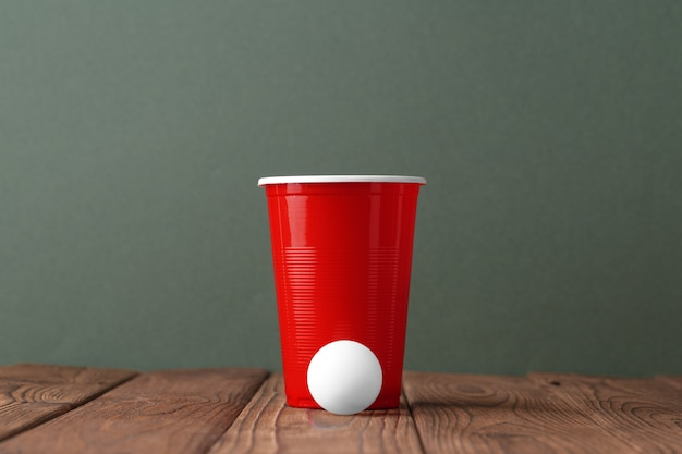 College party sport  beer pong
