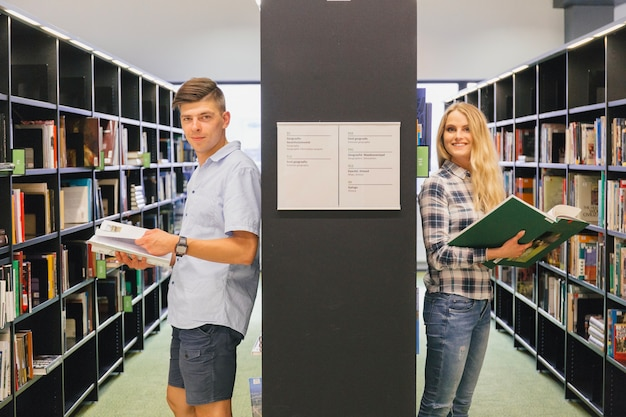 College students with books