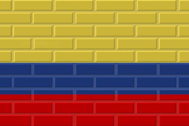 Colombia brick flag illustration