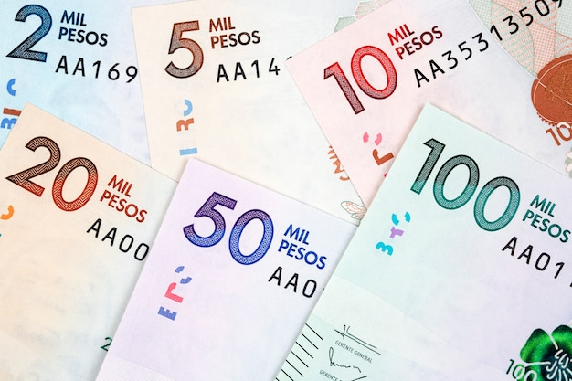 Colombian money - peso a business surface