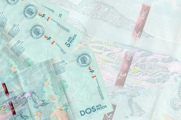コロンビアペソ紙幣は孤立したスタックにあります