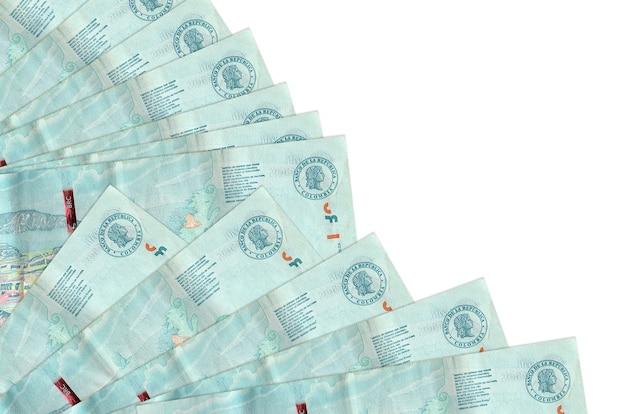コロンビアペソ紙幣は孤立している
