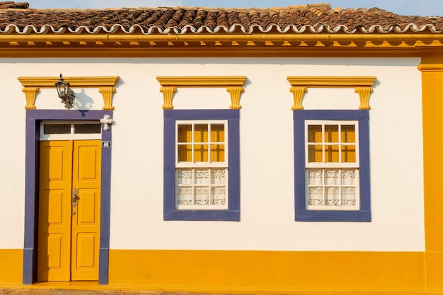 Colonial houses in the city of sao joao del rey