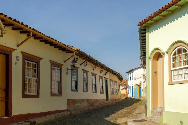 Colonial houses in the city of sao joo del rey
