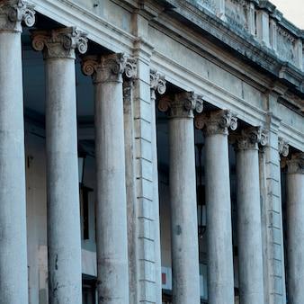 Colonnade of a building, zona 1, guatemala city, guatemala