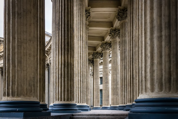 Colonnade of the kazan cathedral st petersburg russia