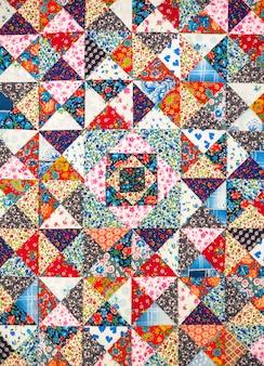 抽象的な背景の色。手作りのパッチワーク