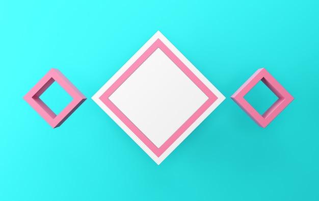 색상 추상 기하학적 모양 그룹 세트, 배너, 3d 렌더링, 기하학적 형태의 장면