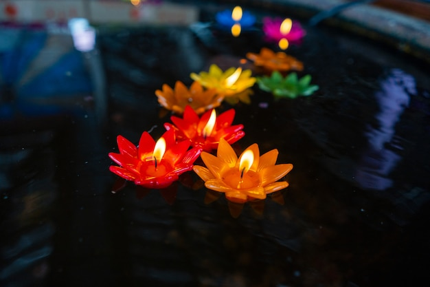 Color candle lotus