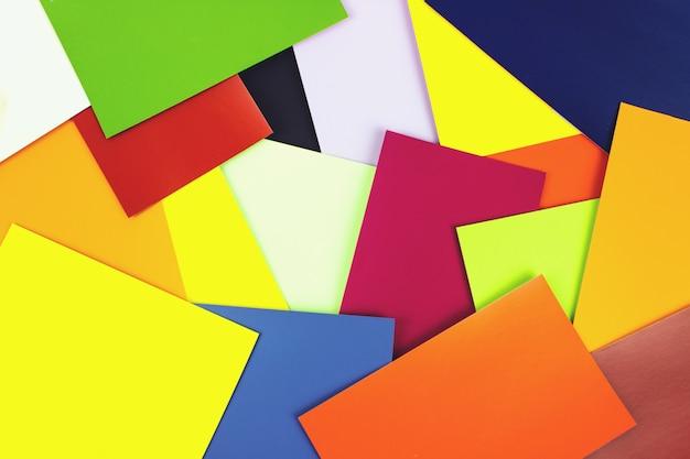 Color card palette, design background. guide of paint samples.