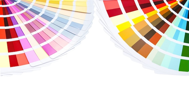 페인트 샘플을 선택하기위한 컬러 카드 팔레트입니다. 색상 카탈로그.