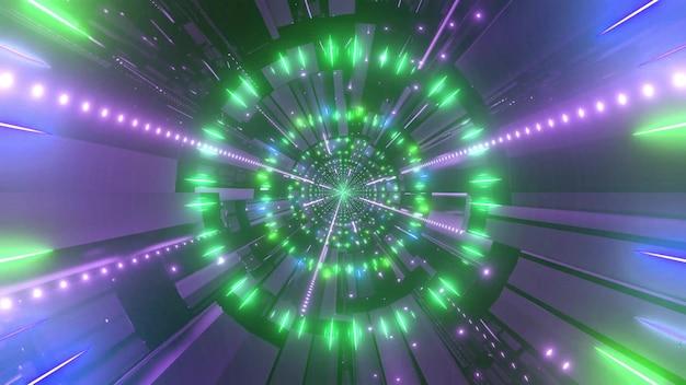 色が変わる4kuhdスペーストンネル3dイラスト