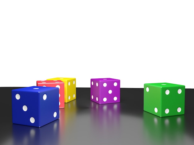Color dice, clipping path