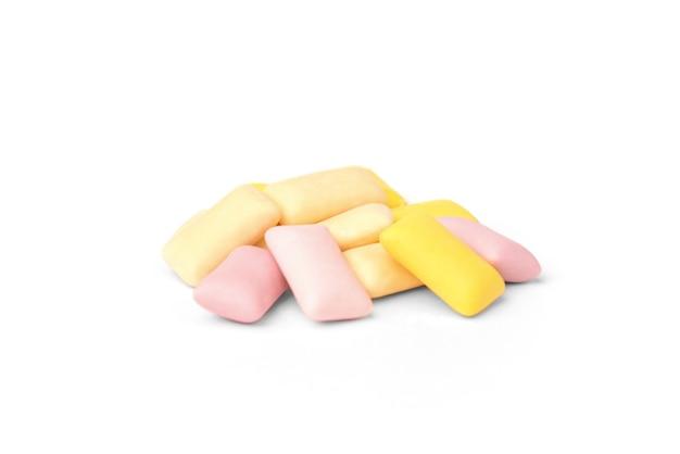 Цвет жевательной резинки, изолированные на белом