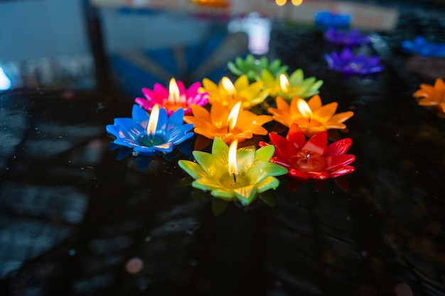 Color full candle lotus