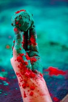 손에 색, 인도 축제 holi