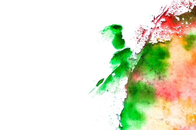 Color ink on isolated background