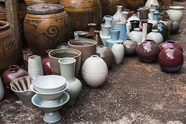 Color jars earthenware