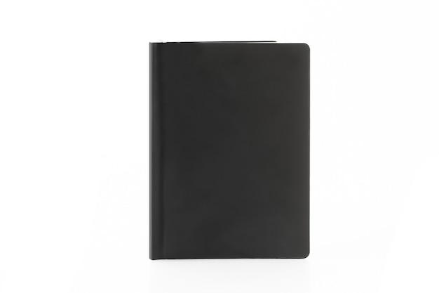 컬러 노트북 메모장 흰색 배경에 고립입니다.