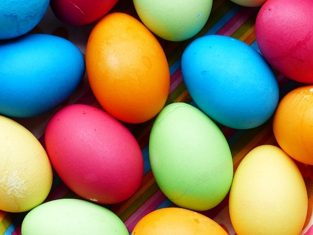Color paint easter colorful eggs egg
