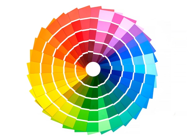 Color palette, a guide to samples for determining the color. guide to paint samples, color catalog