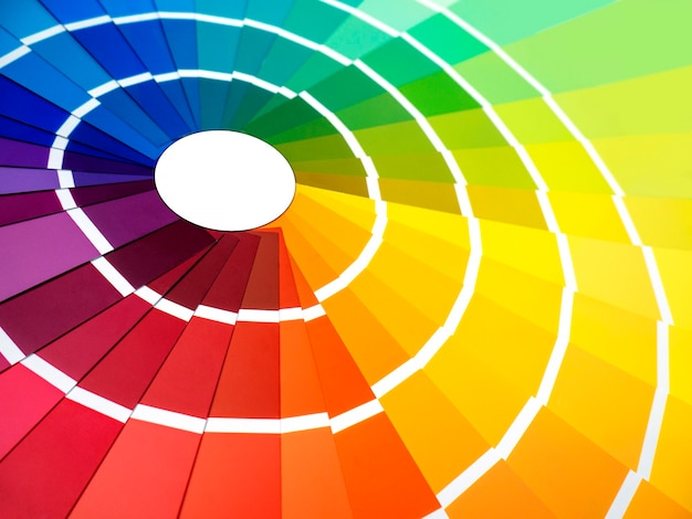 Color palette, a guide to samples for determining color, a guide to paint samples, a color catalog