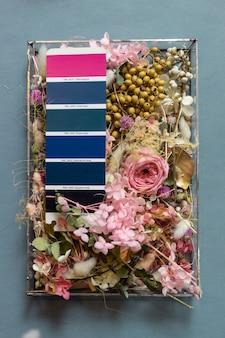 Color palette mood board for interior design and decor